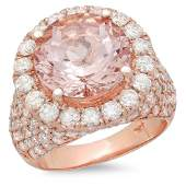 623ct Morganite 14 K Rose Gold Ring