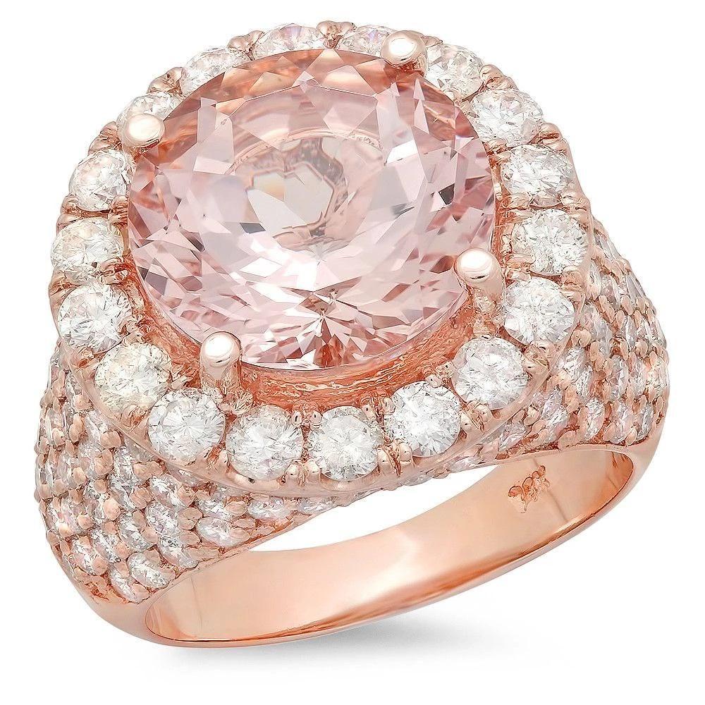 6.23ct Morganite 14 K Rose Gold Ring