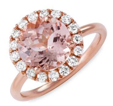 2.5ct Morganite 14 K Rose Gold Ring