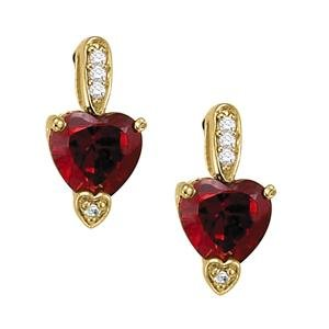2.2ct Natural Ruby 14K Gold Earrings