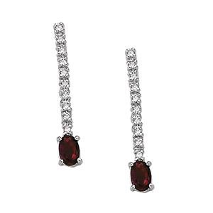 2ct Natural Ruby 14K Gold Earrings