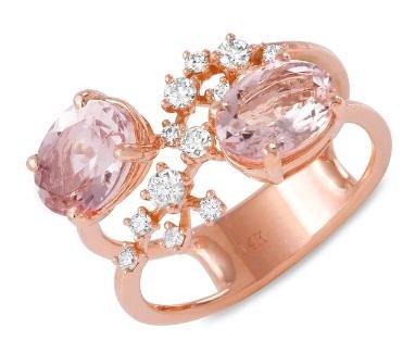 2.4ct Morganite 14 K Rose Gold Ring