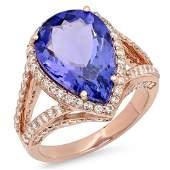 669ct Tanzanite 14 K Rose Gold Ring