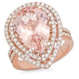 5.71ct Morganite 14 K Rose Gold Ring