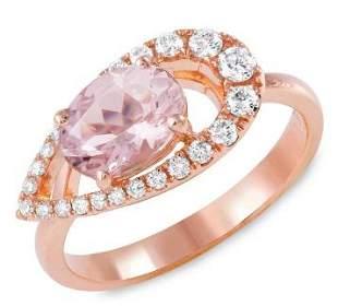 1.28ct Morganite 14 K Rose Gold Ring