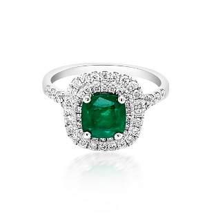 1.18ct Natural Emerald 14K Yellow Gold 4.5gm Ring