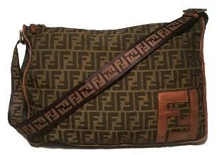 Fendi Zucca Monogram Messenger Bag