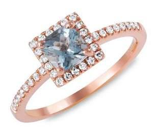 0.6ct Aqua 14 K Rose Gold Ring