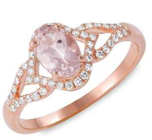 0.71ct Morganite 14 K Rose Gold Ring