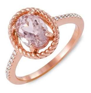 1.41ct Morganite 14 K Rose Gold Ring