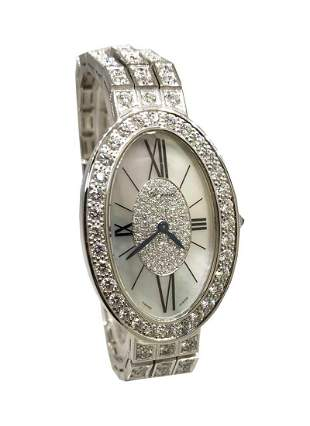 Chopard Oval Classiqie Full Diamond Prong Set Bracelet