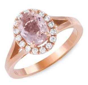 1.26ct Morganite 14 K Rose Gold Ring