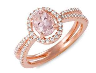 0.81ct Morganite 14 K Rose Gold Ring