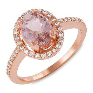 1.33ct Morganite 14 K Rose Gold Ring