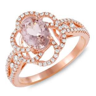 1.22ct Morganite 14 K Rose Gold Ring