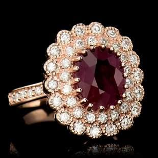 4.60ct NATURAL  Ruby 14K Rose Gold Ring