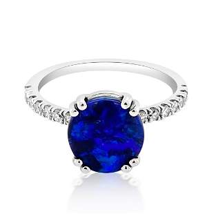 1.5ct Natural OPAL 14K White Gold 2.4gm Ring