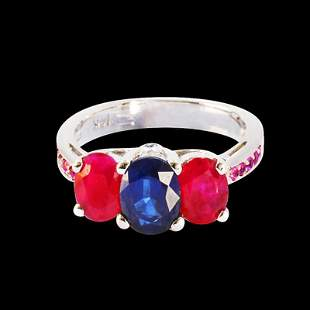 1.51CT NATURAL CEYLON PINK,BLUE SAPPHIRE AND NATURAL