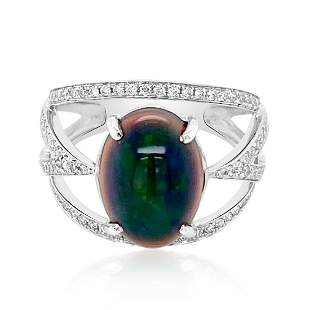 2.28ct Natural OPAL 14K White Gold 3.82gm Ring