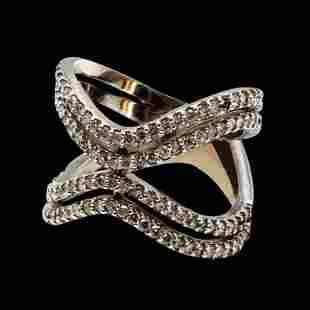 1.08CT NATURAL DIAMOND 14K WHITE GOLD RING