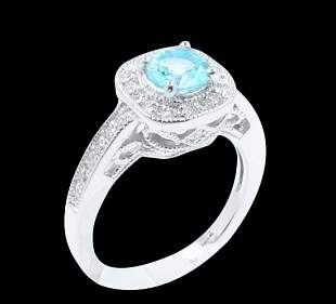 0.79CT NATURAL COPPER BEARING PARAIBA TORMALINE 14K W/G