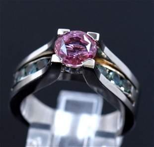 1.69ct NATURAL CEYLON Pink Sapphire / 0.63ct