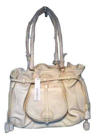 Isaac Mizrahi White Leather Shoulder Bag