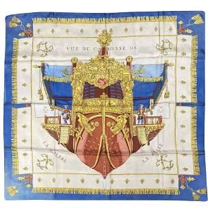 Hermes Vintage Vue De Carrosse de la Galere la Reale
