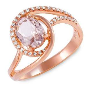 1ct Morganite 14 K Rose Gold Ring