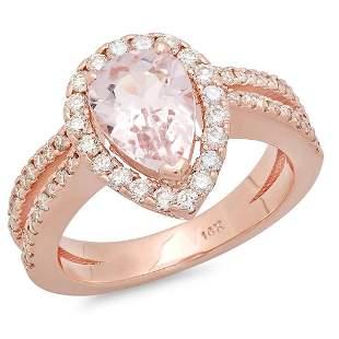 1.42ct Morganite 14 K Rose Gold Ring