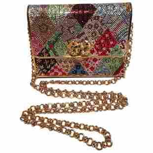Judith Leiber Multicolor Swarovski Crystal Top Flap Box
