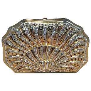 Judith Leiber Swarovski Crystal Gemstone Shell