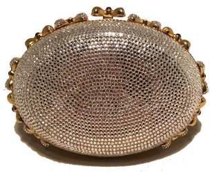Judith Leiber Swarovski Crystal Oval Bow Trim