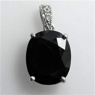 6.92ct NATURAL CEYLON Blue Sapphire 14K White Gold
