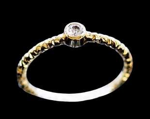 Diamond 0.09ct / 14K Yellow Gold Ring 1.58gram