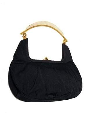 Rosenfeld Vintage Black Silk Faille Handbag