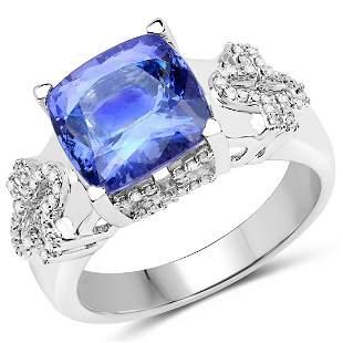 4.36ct Tanzanite 14K White Gold Ring