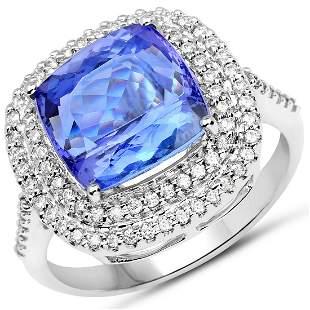 5.58ct Tanzanite 14K White Gold Ring