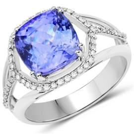 4.35ct Tanzanite 14K White Gold Ring