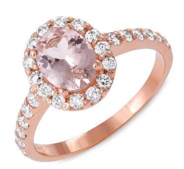 1.1ct Morganite 14 K Rose Gold Ring