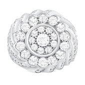 4.44ct Diamond 14K White Gold Ring