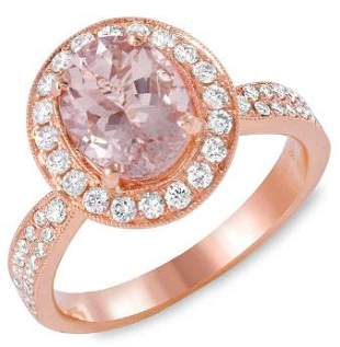 2.02ct Morganite 14 K Rose Gold Ring