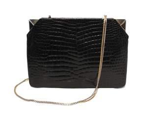 Judith Leiber Vintage Black Alligator Clutch