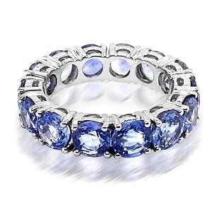 9.10ct Natural Ceylon Blue Sapphire 14K White Gold Ring
