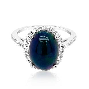 2.2ct Natural OPAL 14K White Gold 2.15gm Ring