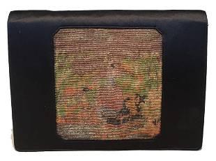 Anton Moritz Vintage Needlepoint Silk Clutch