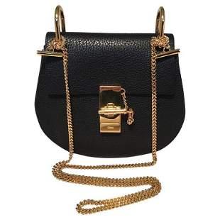 NWOT Chloe Mini Drew Black Leather Saddle Bag