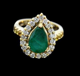 3.14ct NATURAL Emerald 14K White Gold Ring