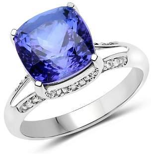 5.59ct Tanzanite 14K White Gold Ring