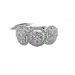 0.65ct Diamonds 14K White Gold Ring